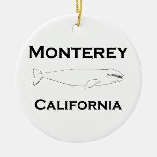 Ornement Rond En Céramique Baleine grise de Monterey la Californie