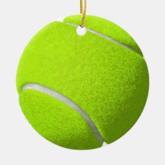 Ornement Rond En Céramique Balle de tennis