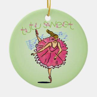 Ornement Rond En Céramique Ballerine de TutuSweet