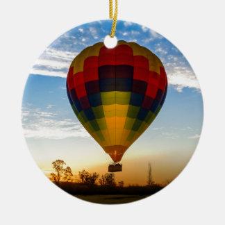 Ornement Rond En Céramique Ballon à air chaud