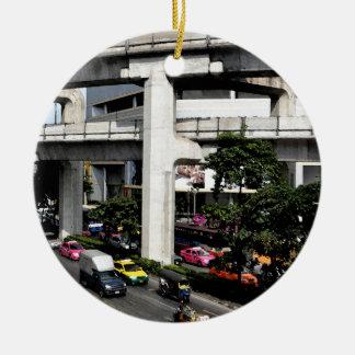 Ornement Rond En Céramique Bangkok