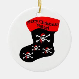 Ornement Rond En Céramique Bas de copain de Joyeux Noël