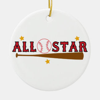 Ornement Rond En Céramique Base-ball All Star