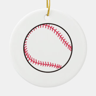 Ornement Rond En Céramique Base-ball d'Applique