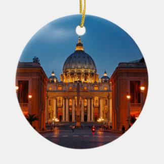 Ornement Rond En Céramique Basilique Saint-Pierre dans le Rome - l'Italie
