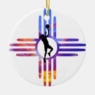 Ornement Rond En Céramique Basket-ball de nanomètre