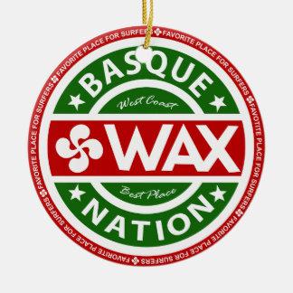 Ornement Rond En Céramique Basque wax for surfers