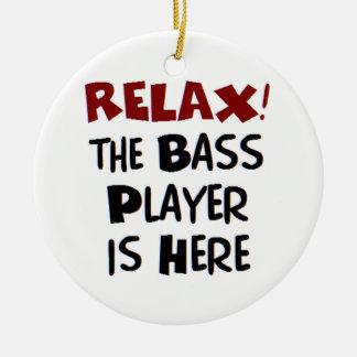 Ornement Rond En Céramique bassiste ici