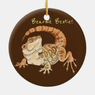 Ornement Rond En Céramique Beardie Bestie !