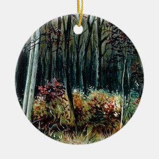 Ornement Rond En Céramique beauté dans les bois