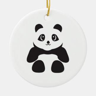 Ornement Rond En Céramique Bel ours panda
