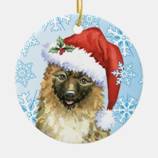 Ornement Rond En Céramique Belge Laekenois de Noël
