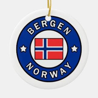 Ornement Rond En Céramique Bergen Norvège