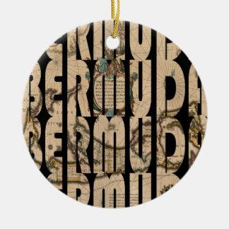 Ornement Rond En Céramique bermuda1662 1