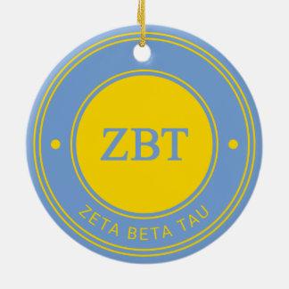 Ornement Rond En Céramique Bêta insigne de Tau | de Zeta