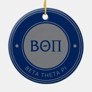 Ornement Rond En Céramique Bêta insigne du thêta pi |