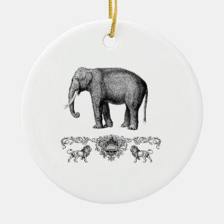 Ornement Rond En Céramique bête grise d'éléphant