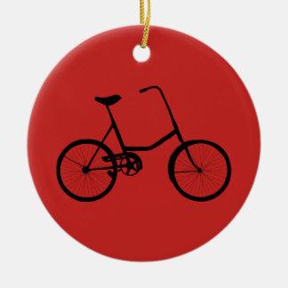 Ornement Rond En Céramique Bicyclette personnalisée