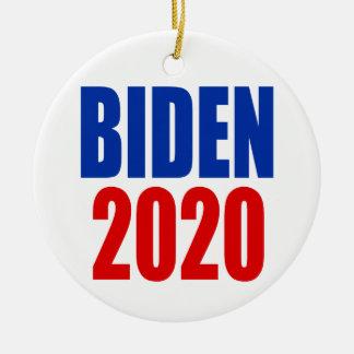 """ORNEMENT ROND EN CÉRAMIQUE """"BIDEN 2020 """""""