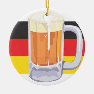 Ornement Rond En Céramique Bière d'Oktoberfest