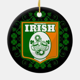 Ornement Rond En Céramique Bière du jour de St Patrick