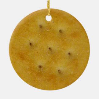 Ornement Rond En Céramique Biscuit de casse-croûte