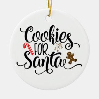 Ornement Rond En Céramique Biscuits pour l'ornement de Noël de Père Noël
