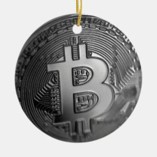 Ornement Rond En Céramique Bitcoin 16