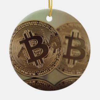 Ornement Rond En Céramique Bitcoin 17