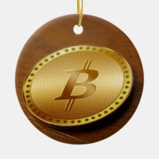 Ornement Rond En Céramique Bitcoin 2