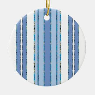 Ornement Rond En Céramique bleu