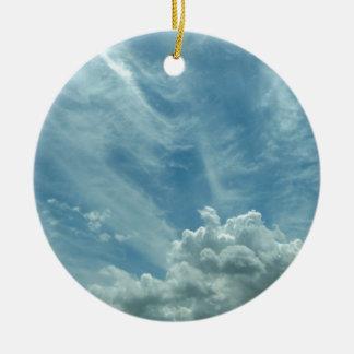 Ornement Rond En Céramique Blue sky and clouds