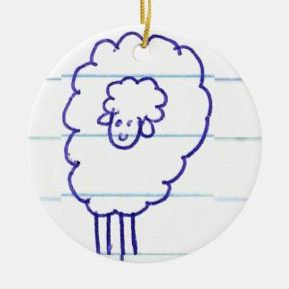 Ornement Rond En Céramique Bob les moutons seuls