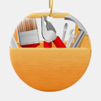 Ornement Rond En Céramique Boîte à outils