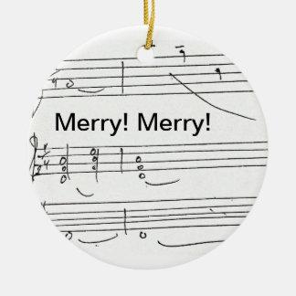 Ornement Rond En Céramique Bon pour Noël