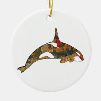 Ornement Rond En Céramique Bonheur d'orque