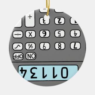 Ornement Rond En Céramique bonjour calculatrice