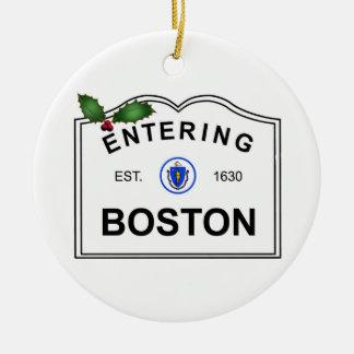 Ornement Rond En Céramique Boston mA