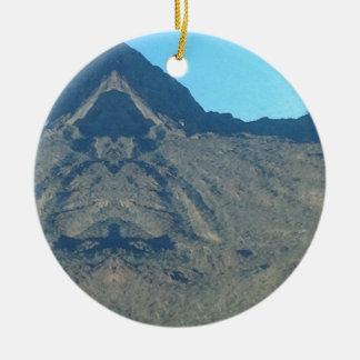 Ornement Rond En Céramique Bouddha de la montagne