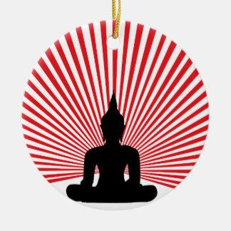 Ornement Rond En Céramique Bouddha tha