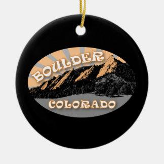 Ornement Rond En Céramique Boulder personnalisé le Colorado, le Flatirons