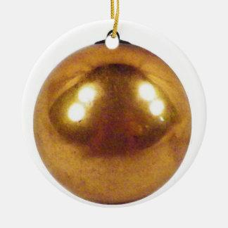 Ornement Rond En Céramique Boule d'or