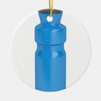 Ornement Rond En Céramique Bouteille en plastique bleue