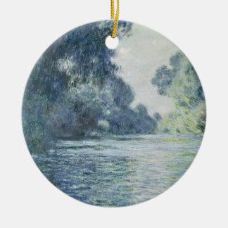 Ornement Rond En Céramique Branche de Claude Monet | de la Seine près de