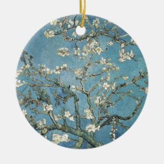 Ornement Rond En Céramique Branches d'amande de Vincent van Gogh | en fleur,