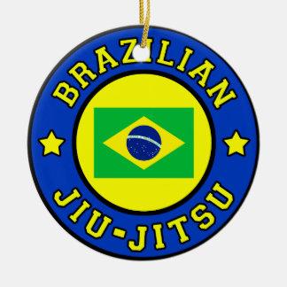 Ornement Rond En Céramique Brésilien Jiu Jitsu