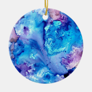 Ornement Rond En Céramique Brume pourpre Luna #5