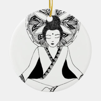Ornement Rond En Céramique buddha3