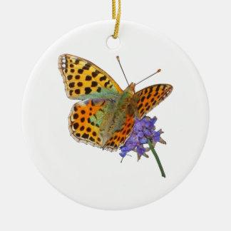 Ornement Rond En Céramique Butterfly - Papillon (02)