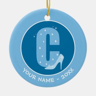 Ornement Rond En Céramique C est pour Cendrillon que   ajoutent votre nom